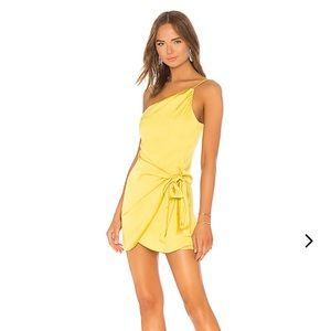 Yellow Lovers + Friends One-Shoulder Karen Dress